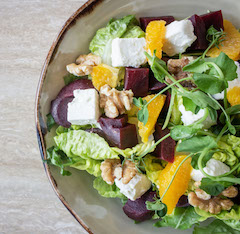 recipe spinach and beet salad