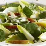 greens endive and pear salad