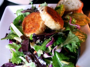 Baked Goat Cheese Salad Garden Lettuces