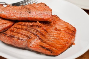 Recipe Grilled Salmon & Summer Squash