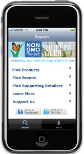 Non-GMO App Shopping Guide