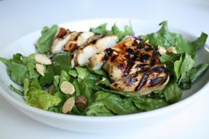 Saffron Chicken Herb Salad Recipe
