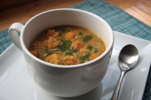 Red Lentil Chard Soup