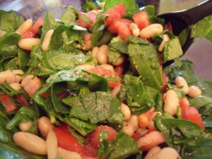 White Bean Arugula Tomato Salad Recipe