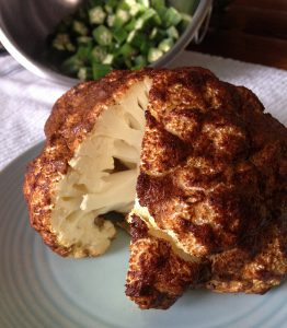 Whole Roasted Cauliflower with Indian Spices Recipe