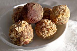 Gluten-Free Vegan Chocolate Strawberry Truffles