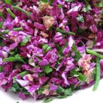 Red Cabbage-Sweet Pea Summer Salad with Citrus Umeboshi Dressing