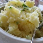 Olive Oil Mashed Potatoes with Saffron