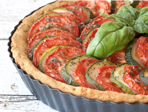 Cancer Fighting Recipe tomato zucchini pie
