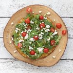 Arugula Pizza with Cauliflower Crust