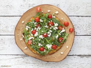 Arugula Pizza with Cauliflower Crust