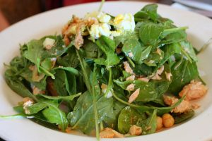 Mediterranean Salad With White Beans and Spinach - Flickr.com - Larry - 3-18-2018